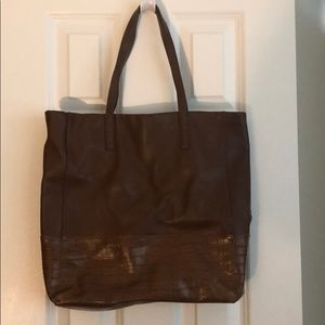 Beautiful brown Halogen leather tote